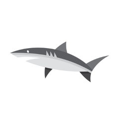 Logotype of shark black and white style flat vector