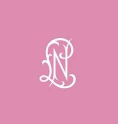 luxury monogram ln vector image