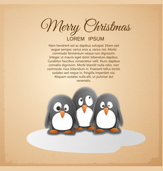 merry christmas congratulatory poster vector image