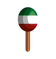 mexican maraca instrument icon vector image