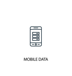 Mobile data concept line icon simple element vector