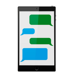 Mobile phone social network vector