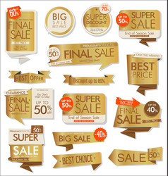 modern collection stickers and banners 04 vector image