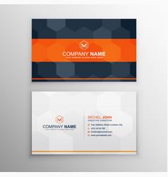 Modern professional business card vector