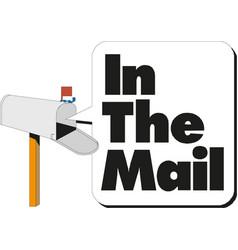 open white mailbox cartoon vector image