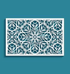 Ornamental tile with cutout paper pattern vector