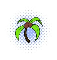 Palm tree icon pop-art style vector image