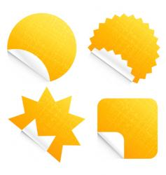 Peeling stickers vector