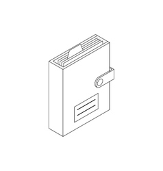 Personal organizer icon isometric 3d style vector image