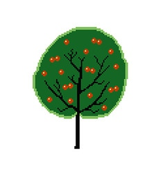 pixel fruit tree vector image