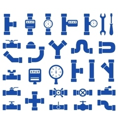 Plumbing pipes set vector