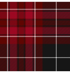 Pride of wales fabric texture red and black tartan vector image