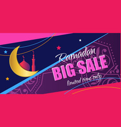 ramadan big sale design vertical web banner with vector image