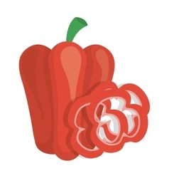red pepper vegetable icon vector image