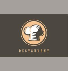 restaurant chef symbolsign logo vector image