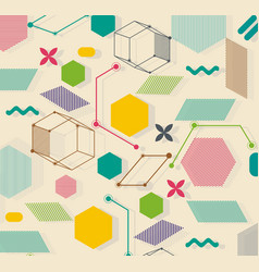retro geometric background use for covers banners vector image