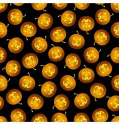 Seamless Halloween pumpkin pattern vector image