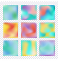 set of hologram colorful backgrounds vector image