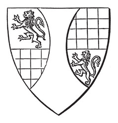 shield ralph de arundel municipal reform act vector image