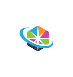 Star logo template icon design vector