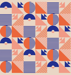 Summer marine vibes simple geometry pattern vector