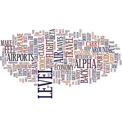 Ten tips for air travel in text background word vector