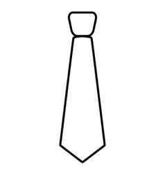 Tie line icon vector