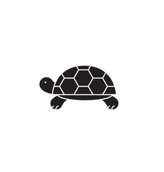 turtle black concept icon turtle flat vector image