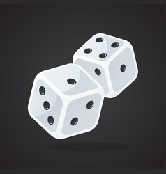 two gambling dices vector image