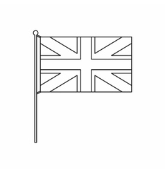 UK flag icon outline style vector image