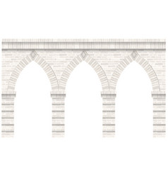 vintage arcade of the masonry wall and facade vector image
