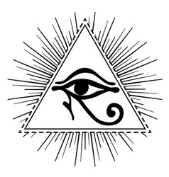 wadjet in pyramid ancient egyptian symbol of vector image