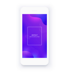 white smartphone abstract purple background vector image