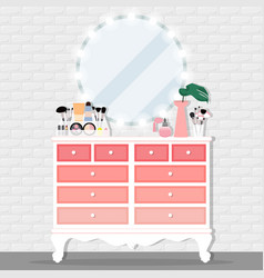 with chest of drawers chair vector image