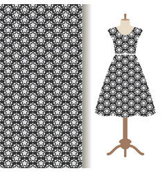 womens dress fabric starry pattern vector image