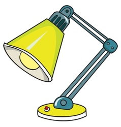 Yellow desk lamp on white background vector