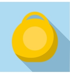 Yellow weight icon flat style vector