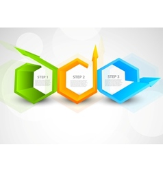 Background with hexagons and arrows vector image vector image