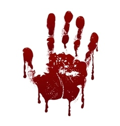 Bloody handprint horror dirty scary blood vector