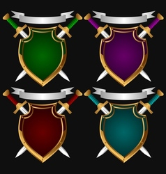 Board and sword Set vector image