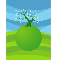 card with stylized treet image for design vector image