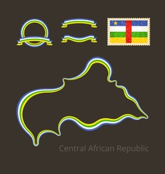 Colors of central african republic vector