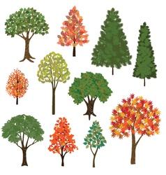 Hand drawn trees vector