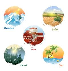 landscape types vector image