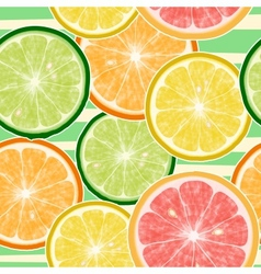 Seamless fruits background vector