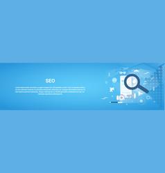 seo optimization concept horizontal web banner vector image