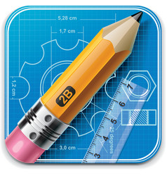 technical drawing xxl icon vector image