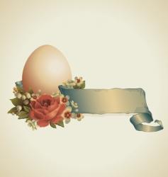vintage Easter design vector image vector image