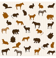 Animal seamless pattern vector image vector image