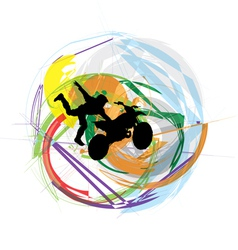 biker in action vector image vector image